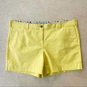 Biden Neon Yellow Green Cotton Plus Size Shorts